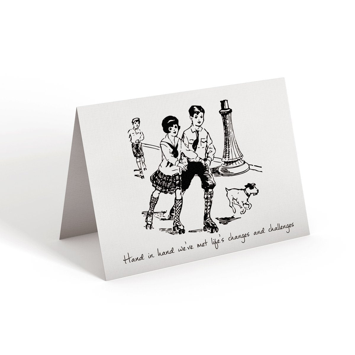 Hand in hand - Greeting Card - Netties Expressions