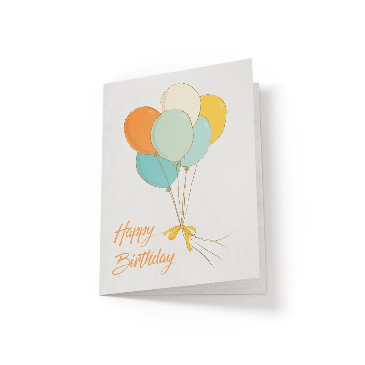 Happy Birthday Balloons - Greeting Card - Netties Expressions