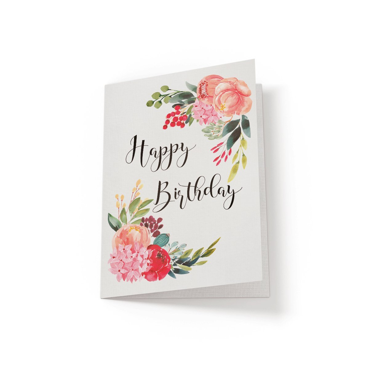 Happy Birthday - Floral Birthday Card - Netties Expressions