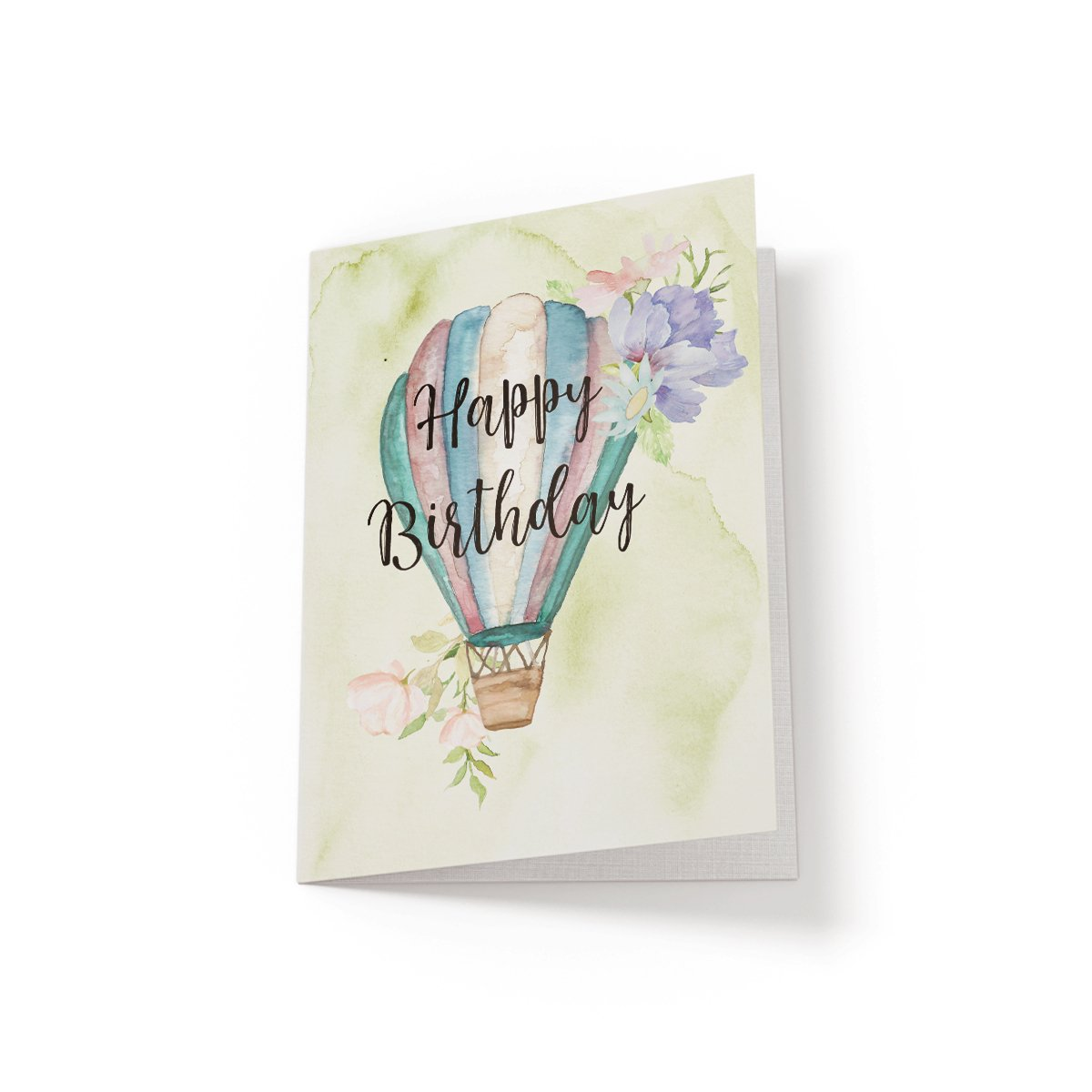 Happy Birthday - Hot Air Balloon - Greeting Card - Netties Expressions