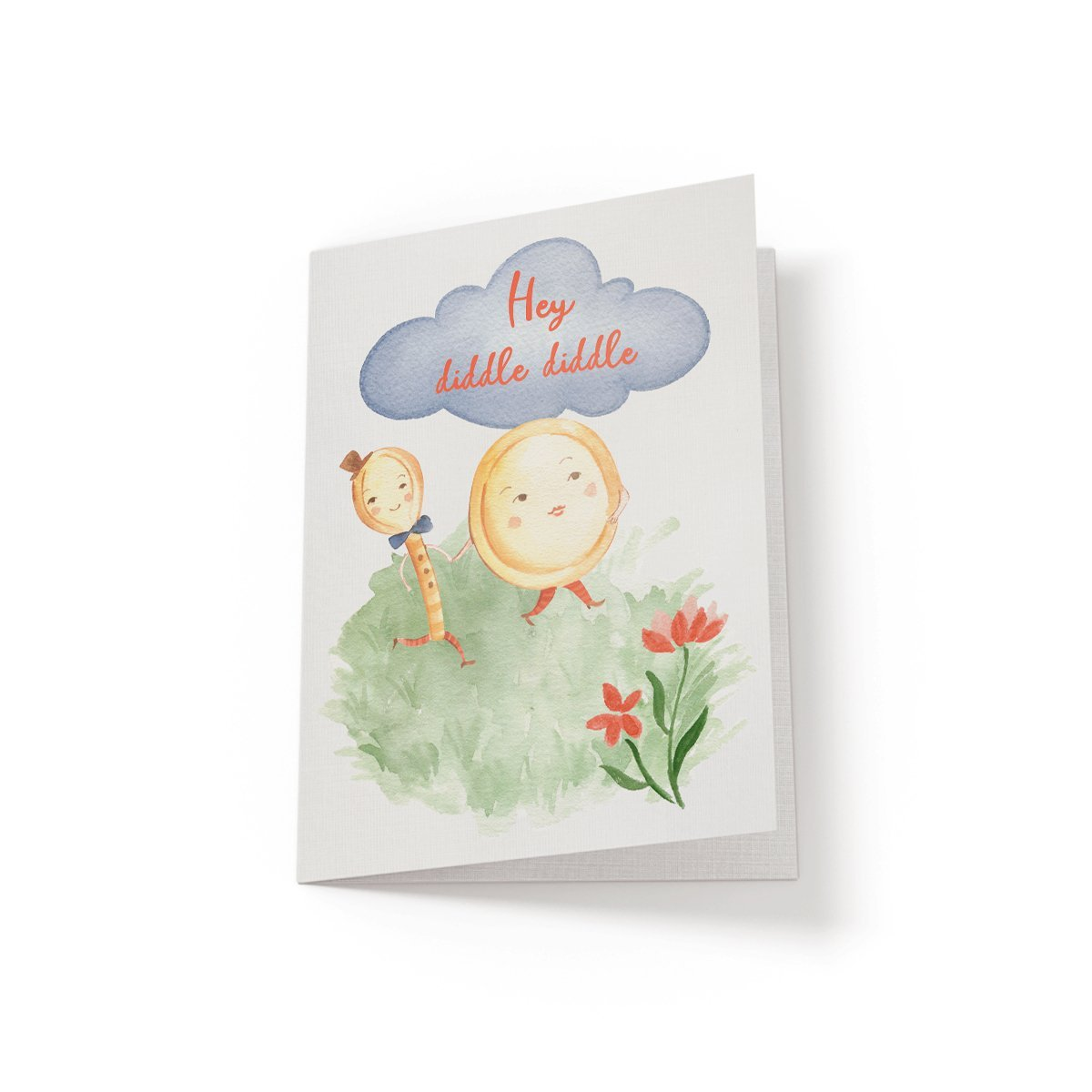 Hey diddle diddle - Greeting Card - Netties Expressions