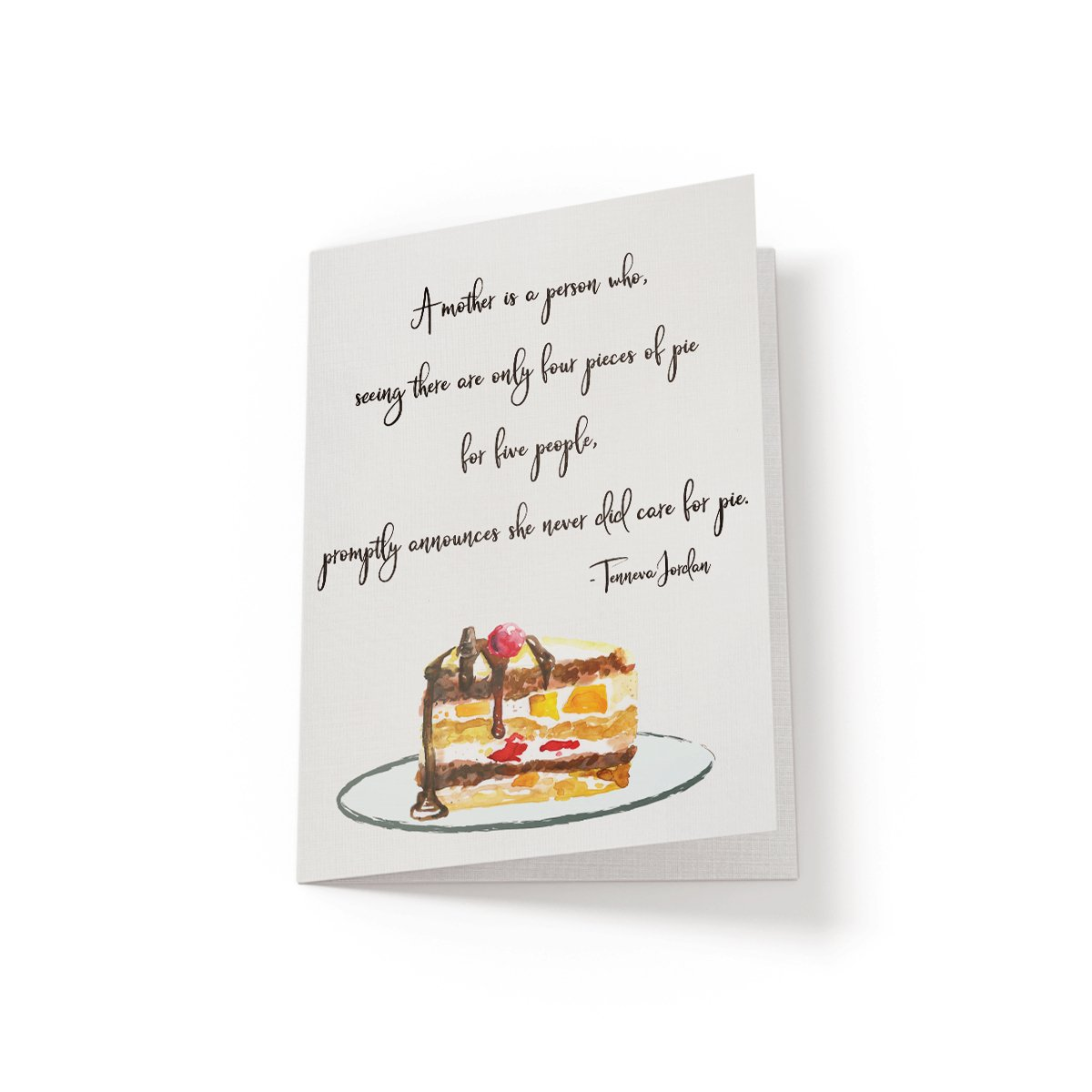 A Mother is a person who - Greeting Card - Netties Expressions
