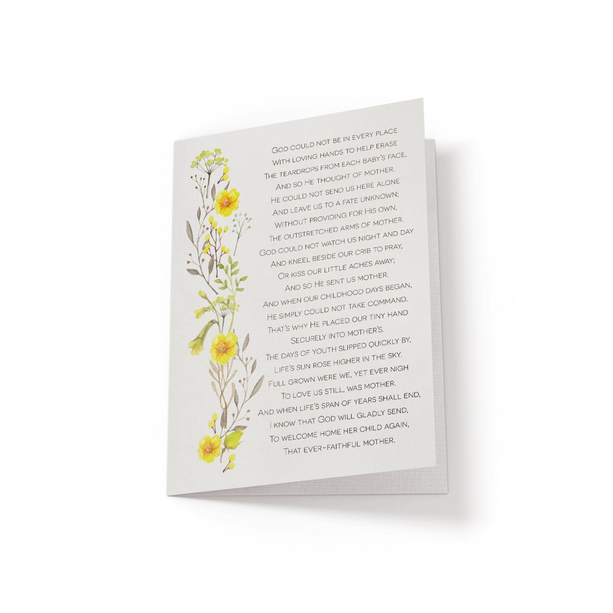 God could not be in every place - Greeting Card - Netties Expressions
