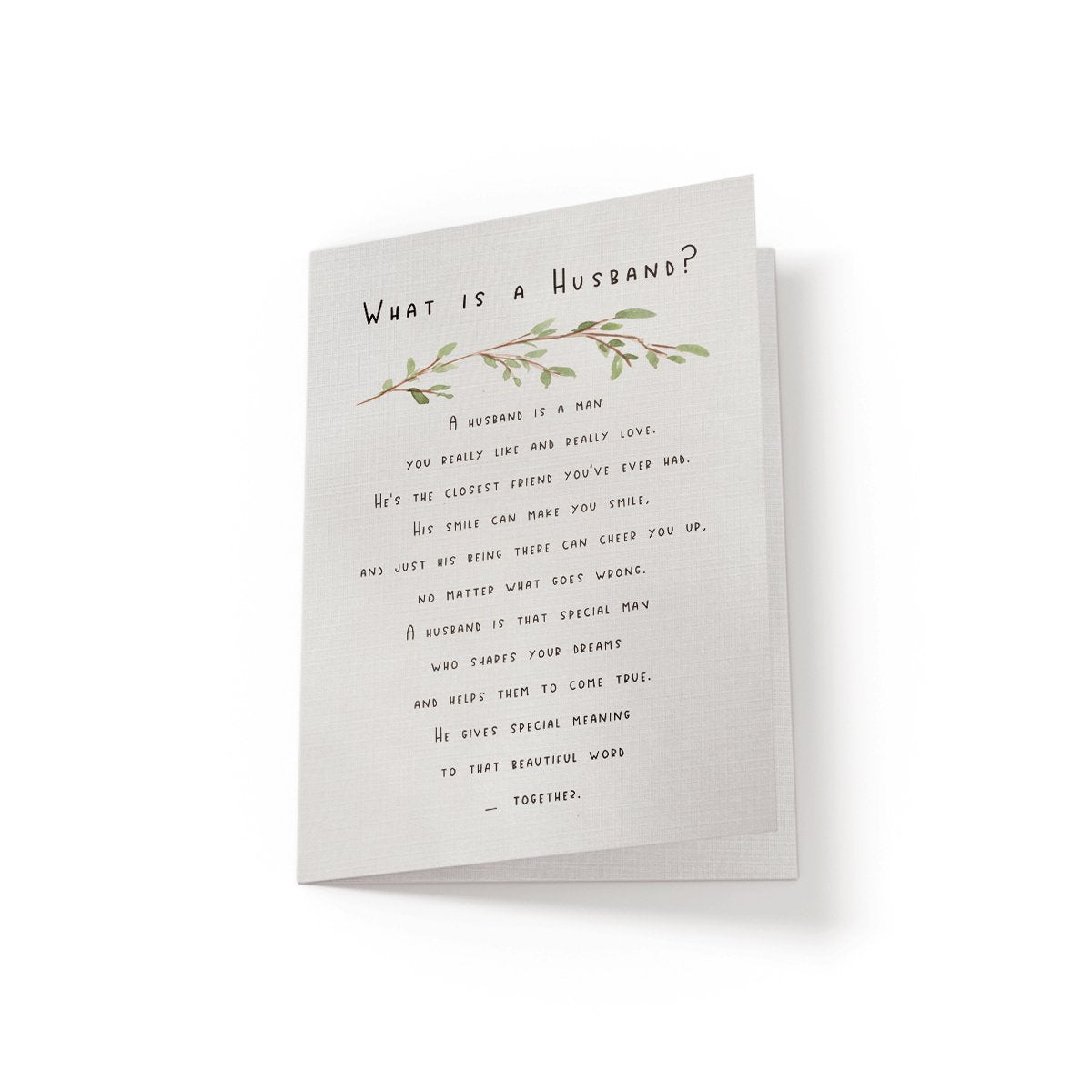 What is a Husband - Greeting Card - Netties Expressions