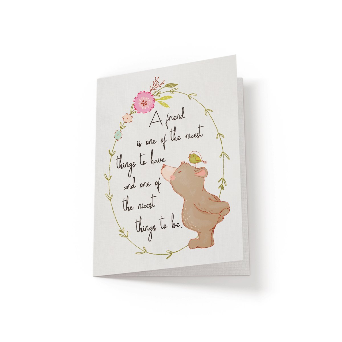 A friend is one of the nicest - Greeting Card - Netties Expressions