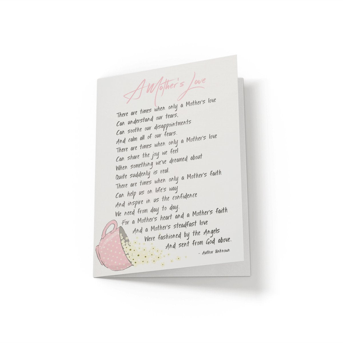 A Mother's Love - Greeting Card - Netties Expressions