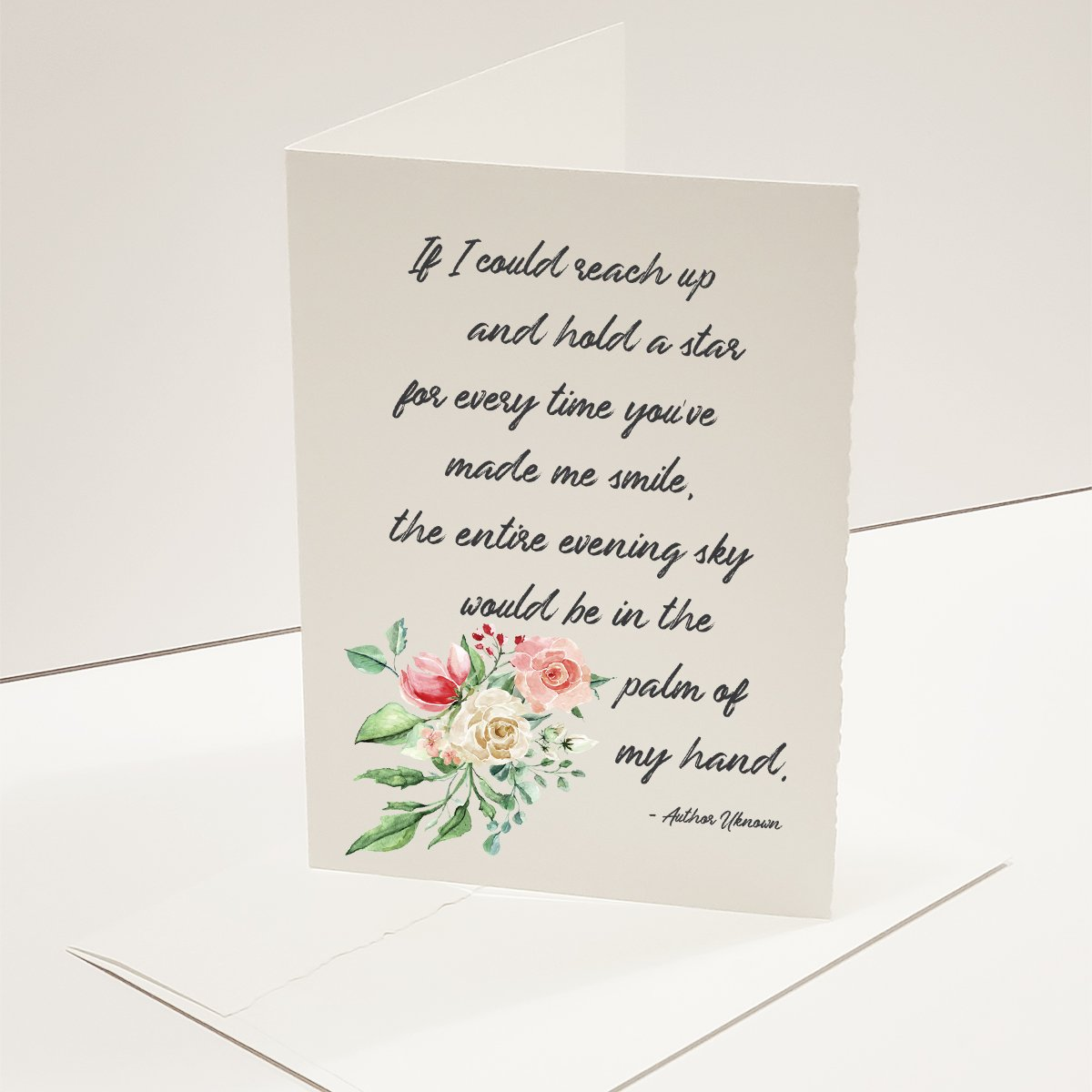 If I could reach up - Greeting Card - Netties Expressions