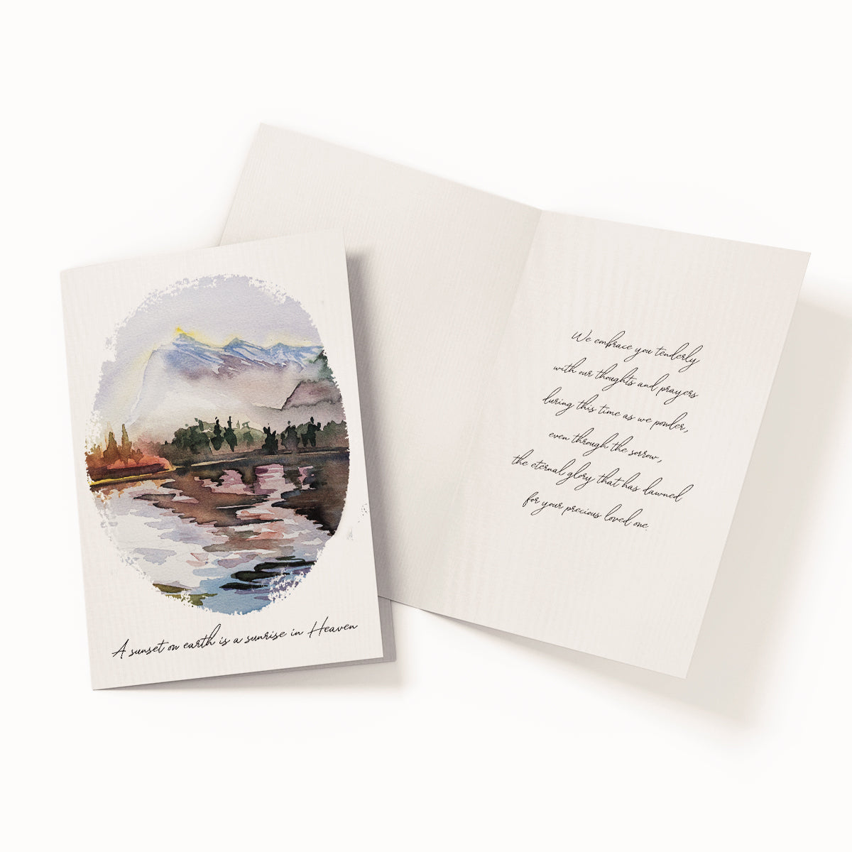 A sunset on earth is a sunrise in Heaven - Greeting Card