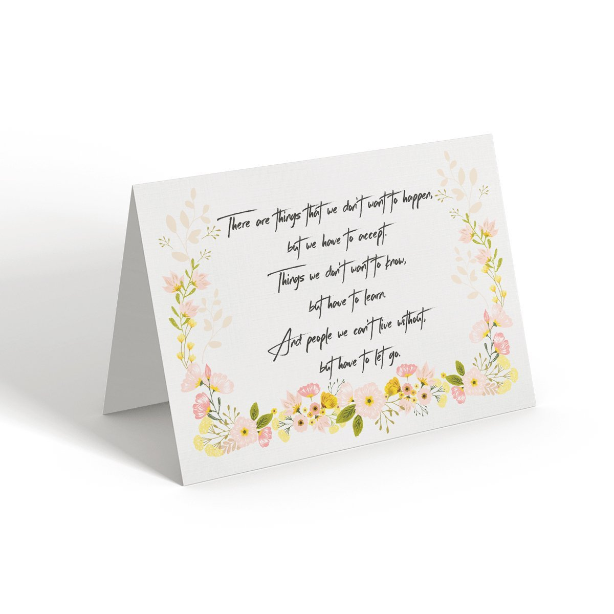 There are things that we don't want to happen - Greeting Card - Netties Expressions
