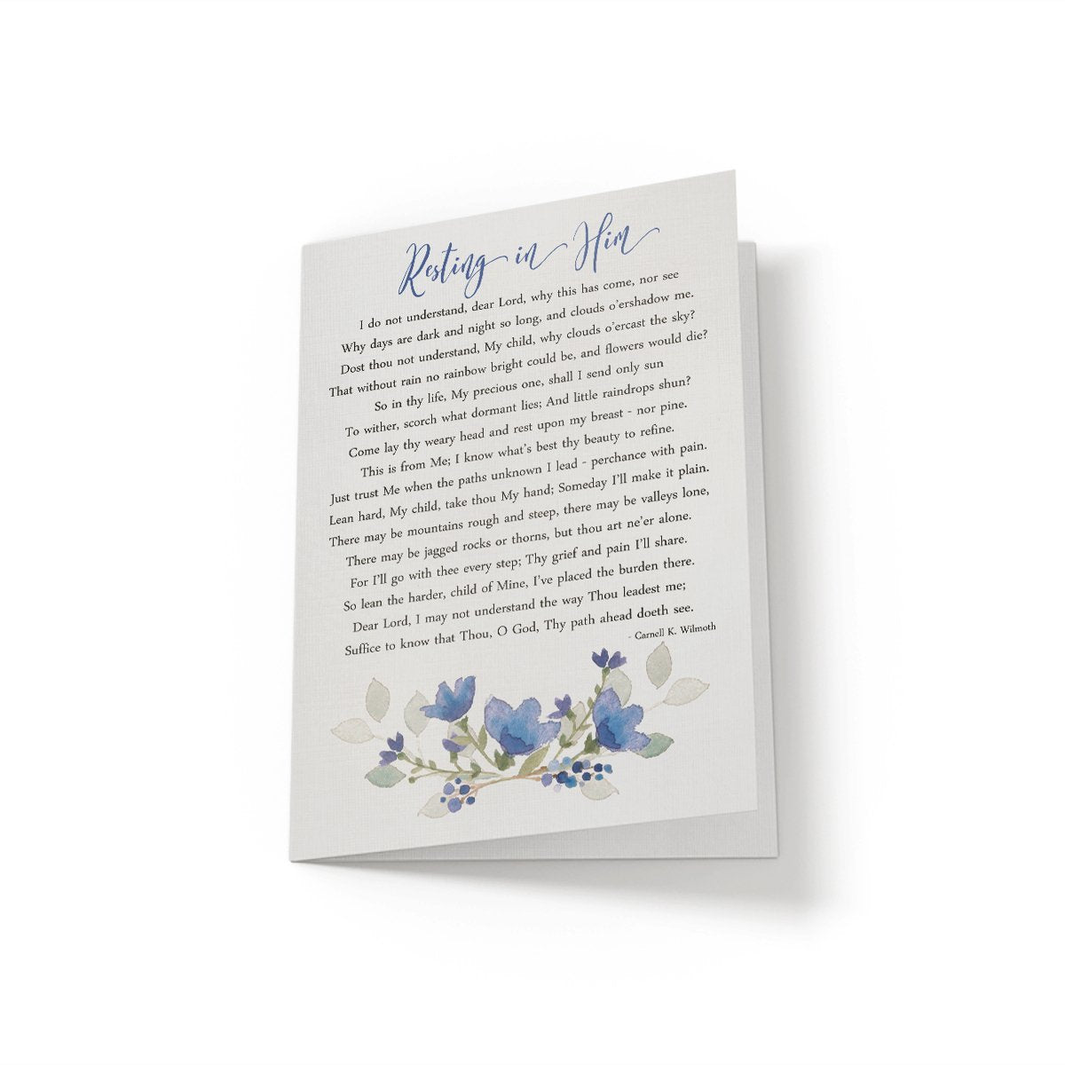 Resting in Him - Greeting Card - Netties Expressions