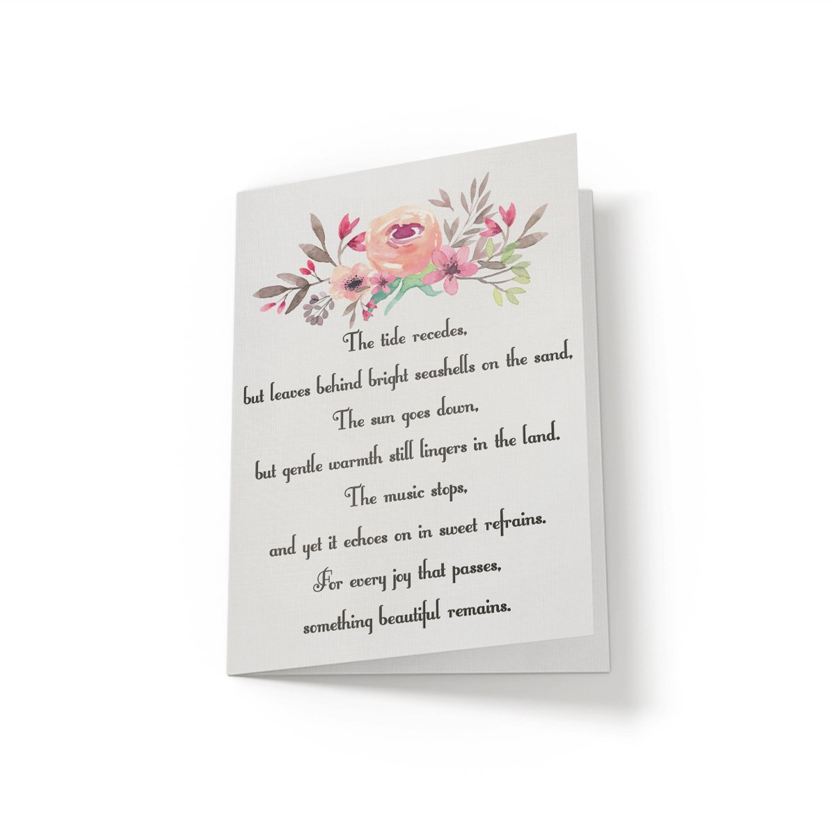 The tide recedes - Greeting Card - Netties Expressions