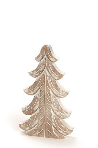 "12"" Wooden Tree White"
