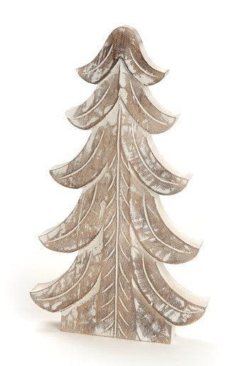 "16"" Wooden Tree White"