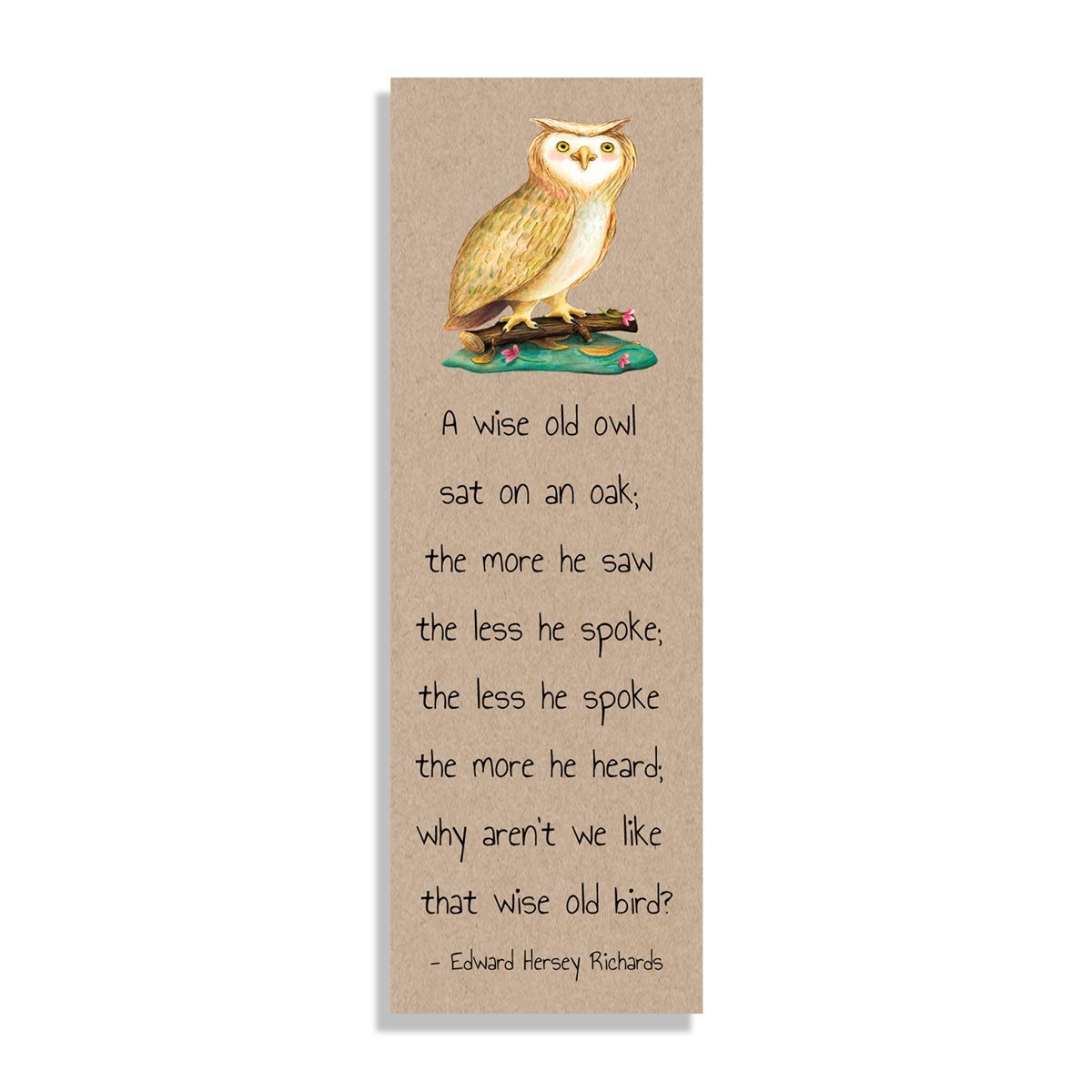 A wise old owl Bookmark - Netties Expressions
