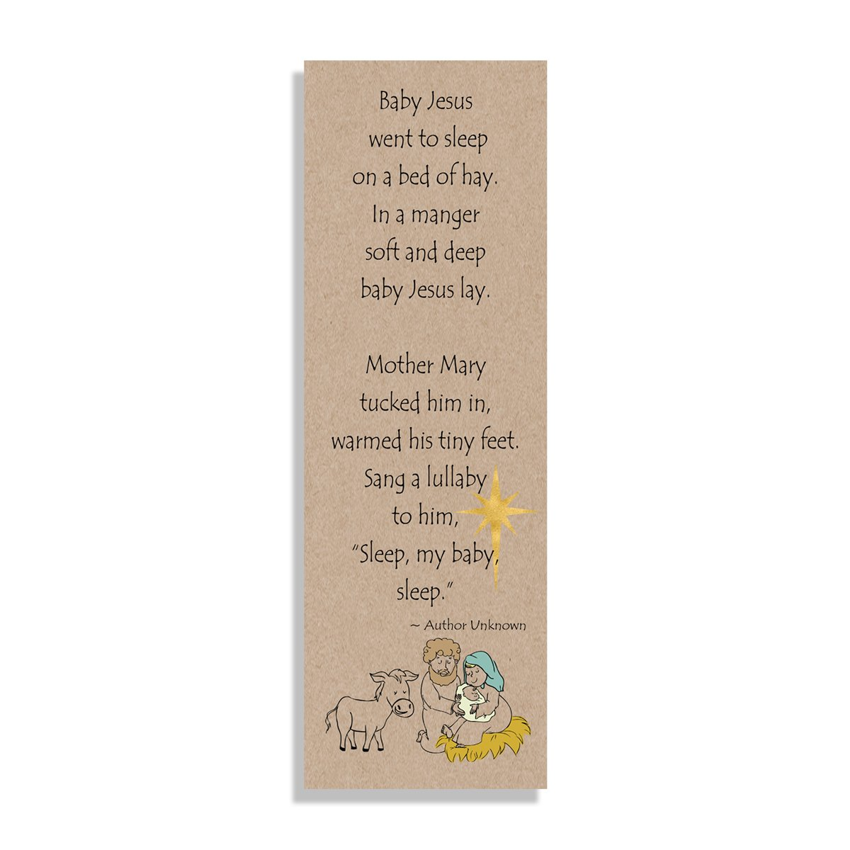 Baby Jesus Went to Sleep - Bookmark - Netties Expressions