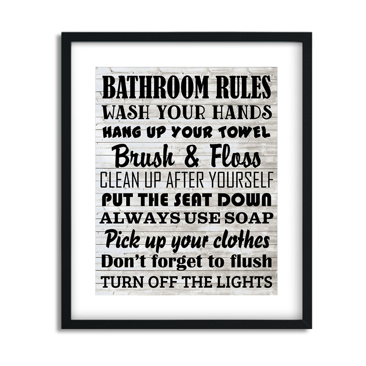 Bathroom Rules - Art Print - Netties Expressions