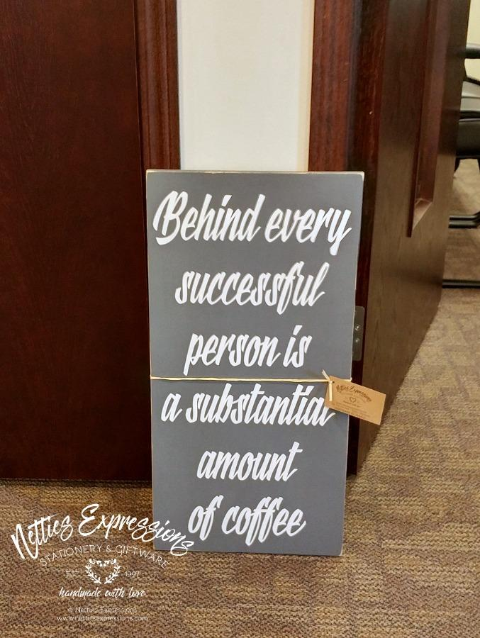 Behind every successful person - Rustic Framed Wooden Sign - Netties Expressions