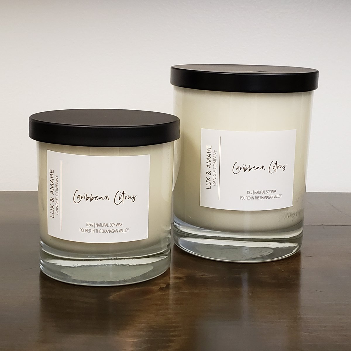 Caribbean Citrus Lux & Amare Candle Company