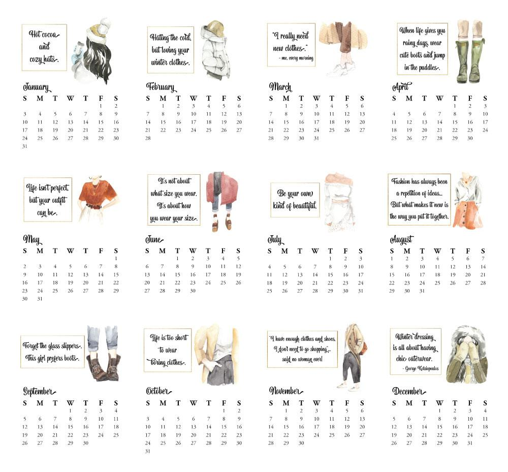 2021 Desktop Calendar - Fashion - Netties Expressions