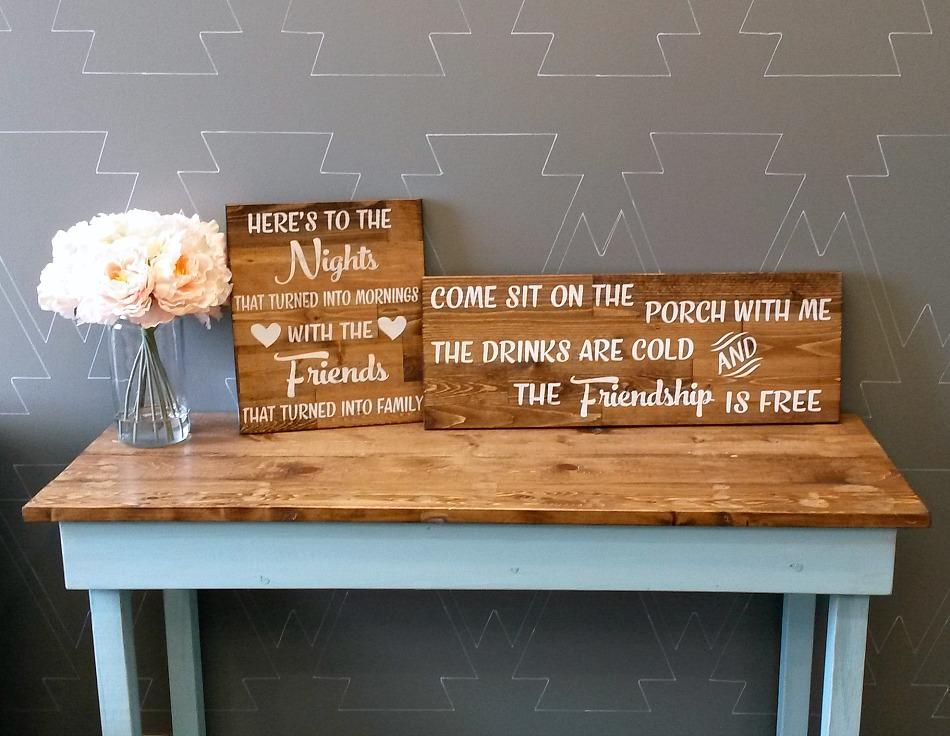 Come sit on the porch with me - Rustic Wood Sign - Netties Expressions