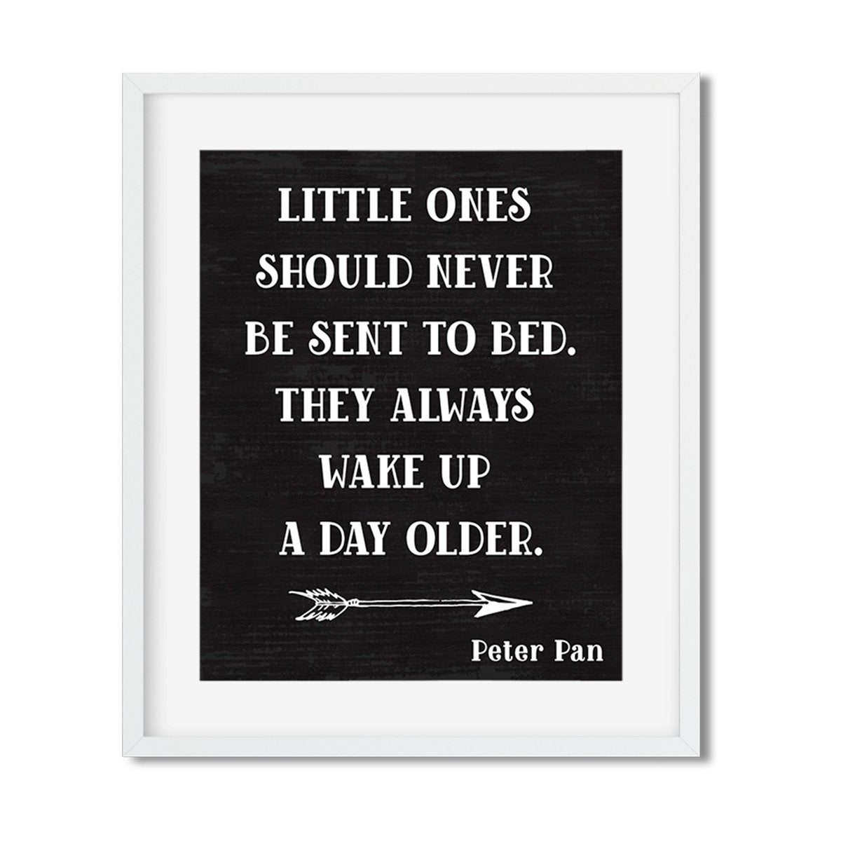 Little ones should never be sent to bed - Art Print - Netties Expressions