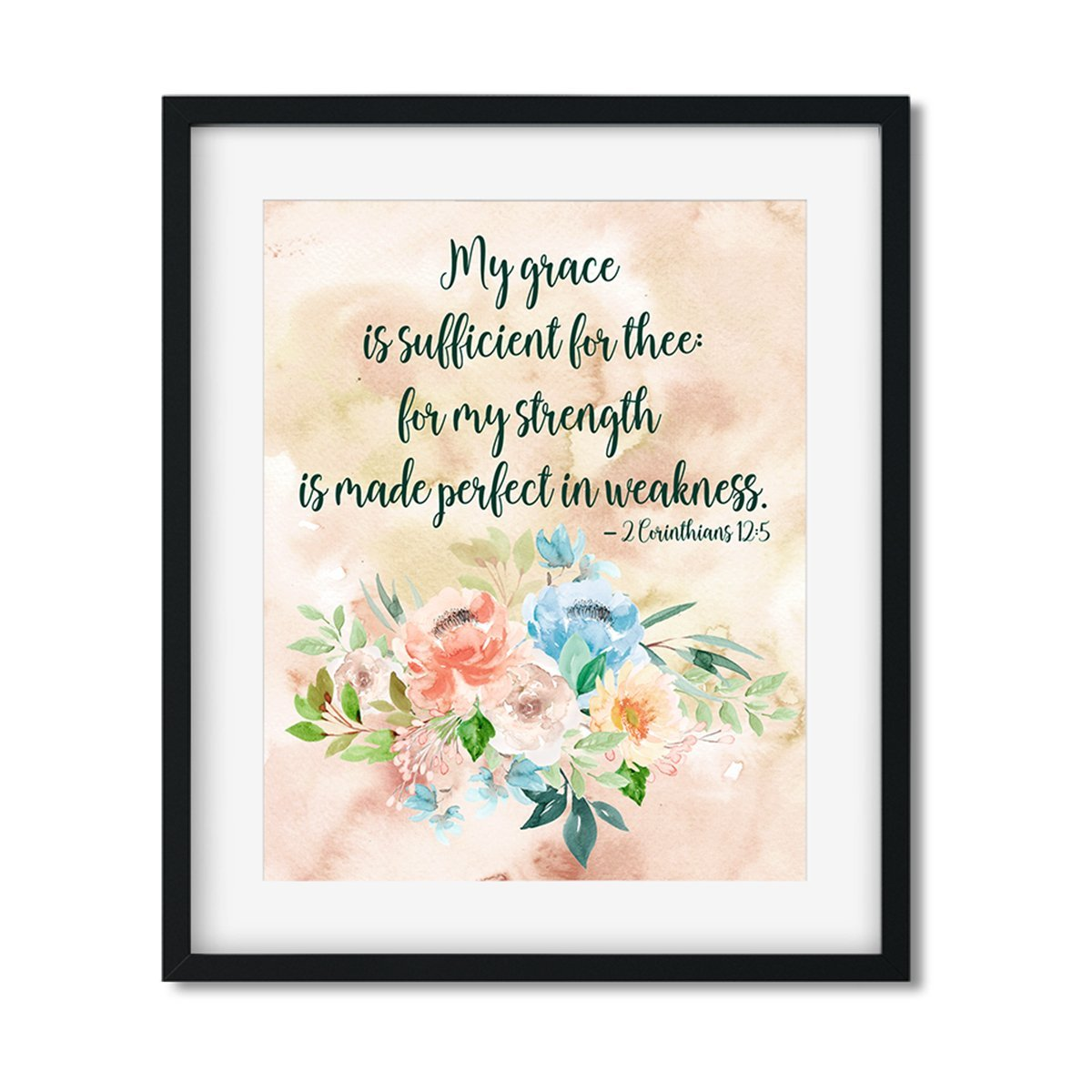 My Grace is sufficient for thee - Art Print - Netties Expressions