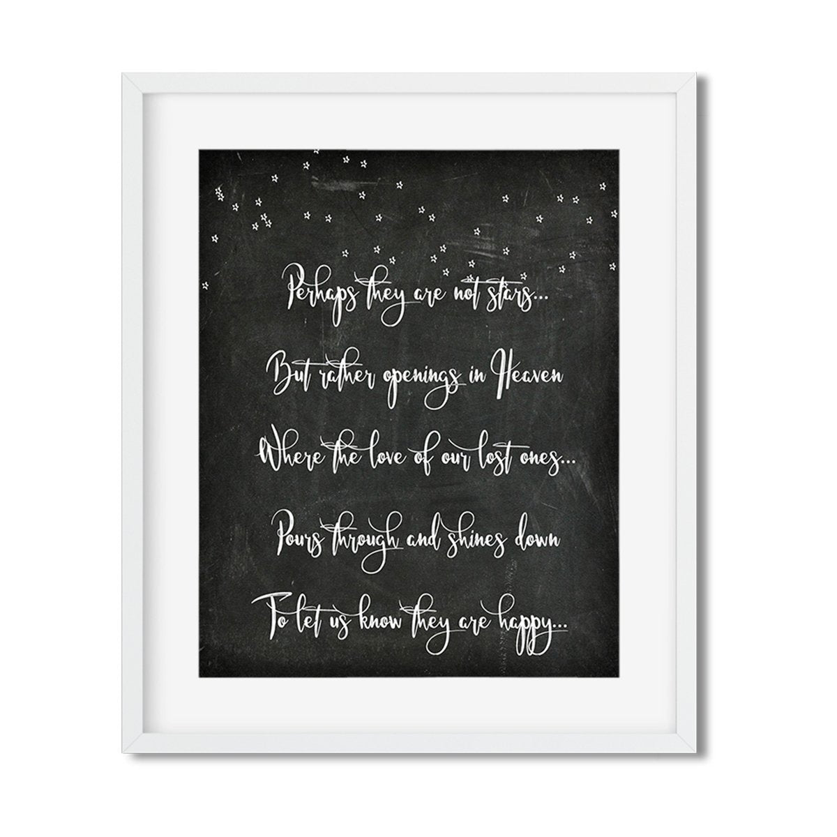 Perhaps they are not stars - Art Print - Netties Expressions