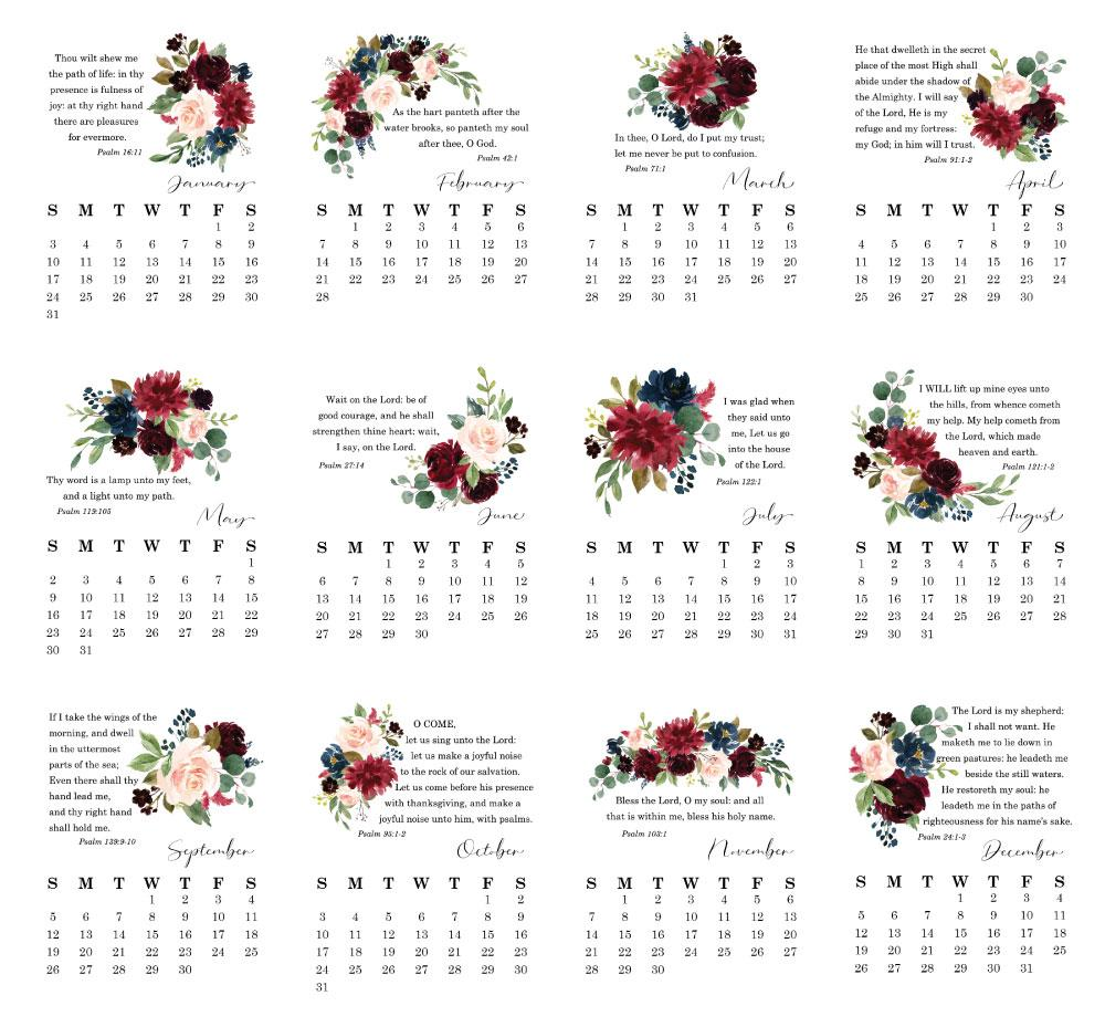 2021 Desktop Calendar - Psalms - Netties Expressions