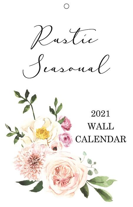 2021 Rustic Seasonal Slim Wall Calendar - Netties Expressions