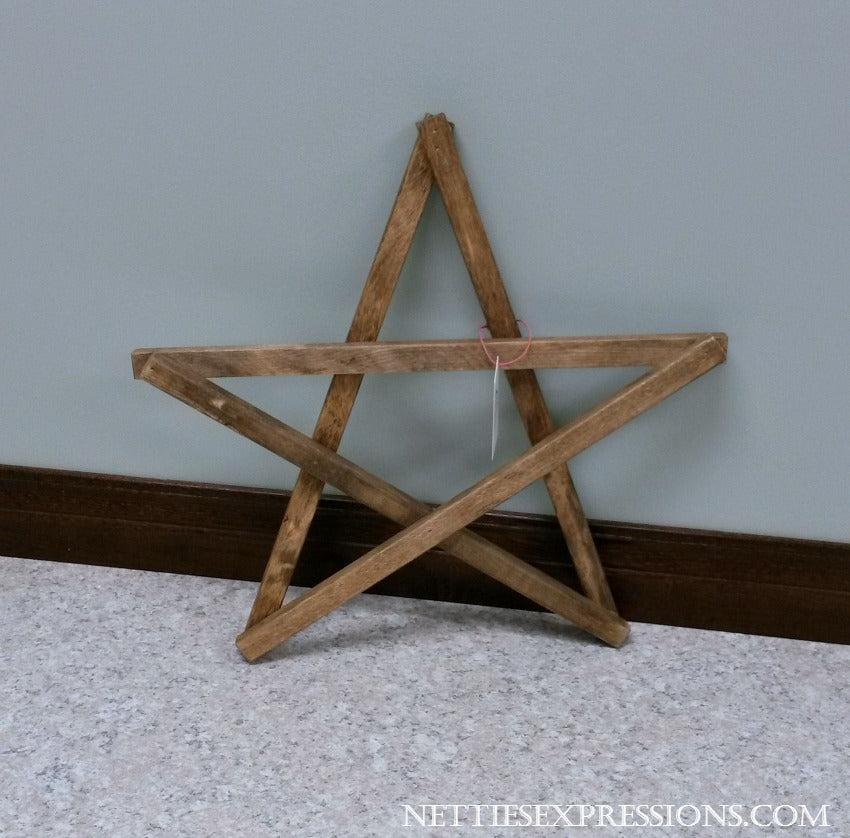 Rustic Wooden Star - Small