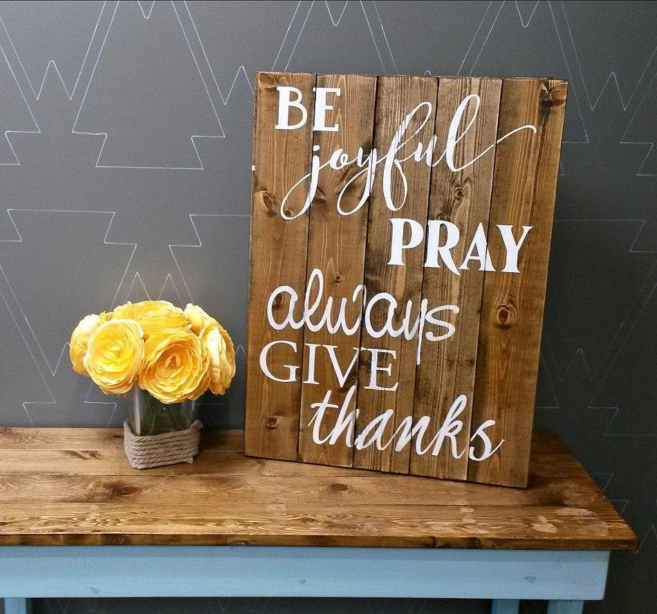 Be Joyful - Rustic Pallet Wood Sign - Netties Expressions