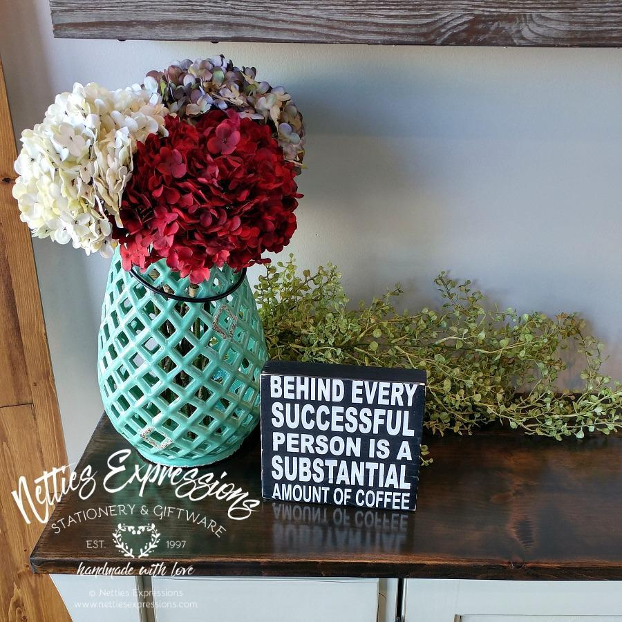 Behind every successful person - Chunky Rustic Wood Sign - Netties Expressions