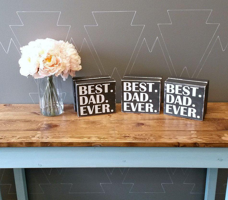 BEST DAD EVER - Chunky Rustic Wood Sign - Netties Expressions