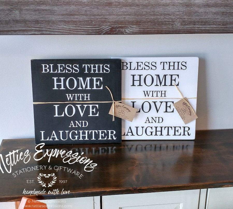 Bless this home - Rustic Wood Sign - Netties Expressions