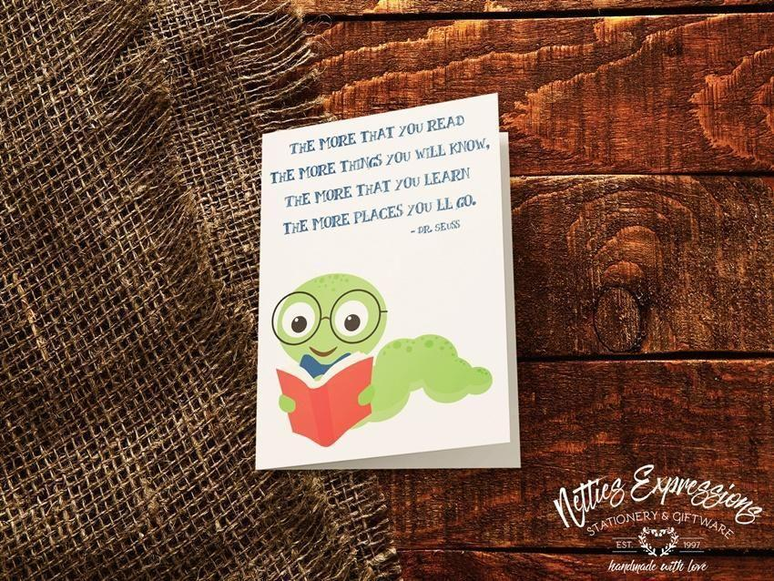 Bookworm - Greeting Card - Netties Expressions
