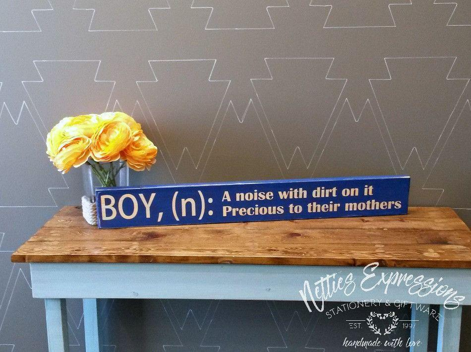 Boy Definition - Wood Sign - Netties Expressions