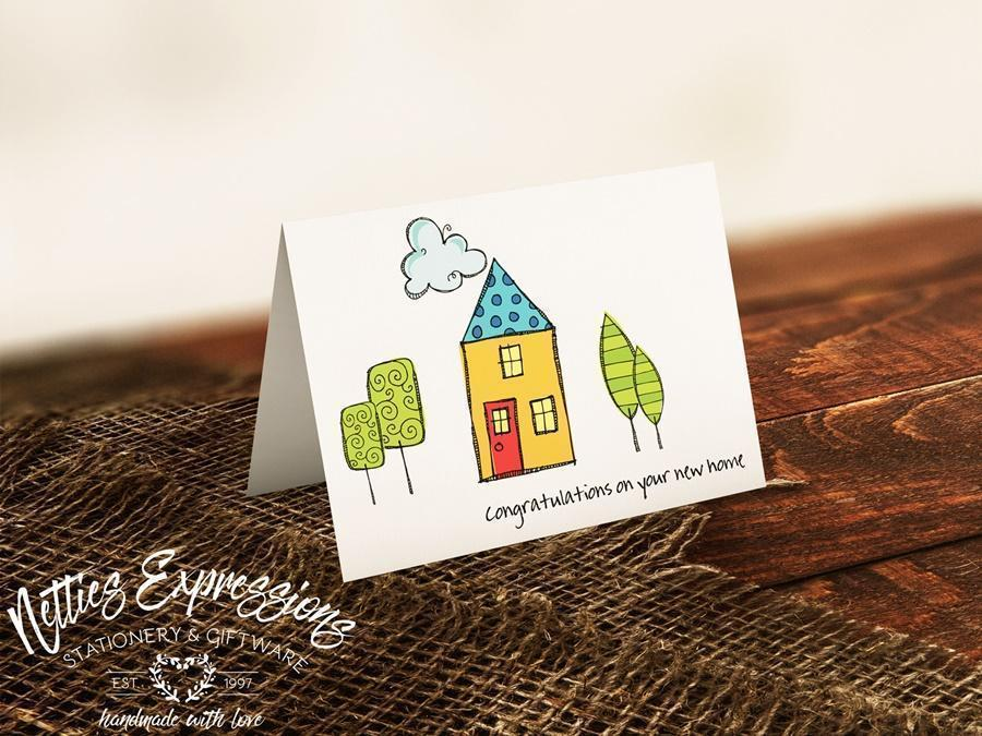 Congratulations on your new home - Greeting Card - Netties Expressions
