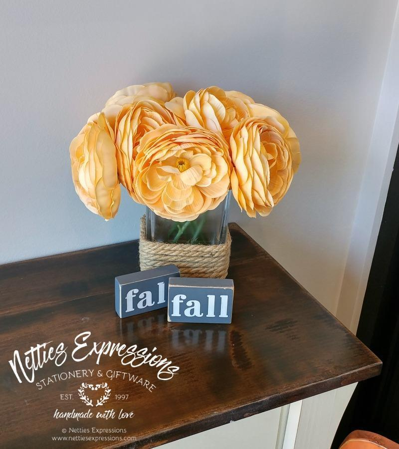 Fall - Rustic Wood Fall Sign - Netties Expressions