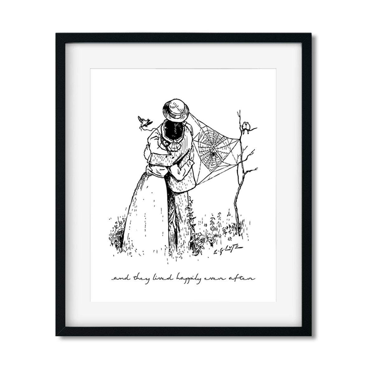 And they lived happily ever after - Art Print - Netties Expressions