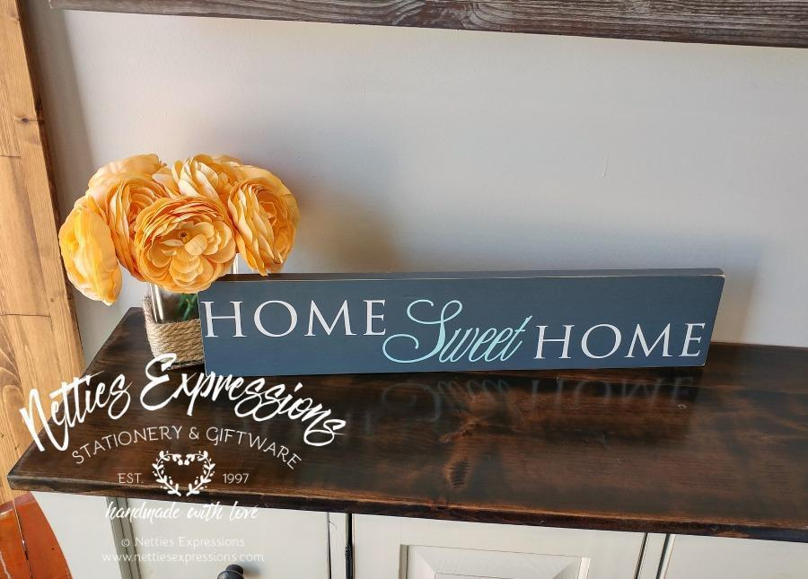 Home Sweet Home - Rustic Wood Sign - Netties Expressions