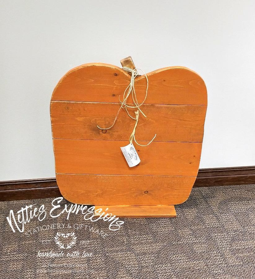 Large Horizontal Pallet Wood Pumpkin - Netties Expressions