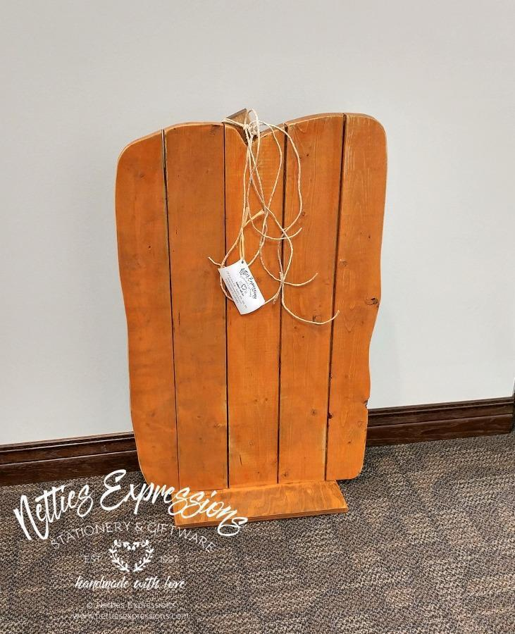 Large Vertical Pallet Wood Pumpkin - Netties Expressions