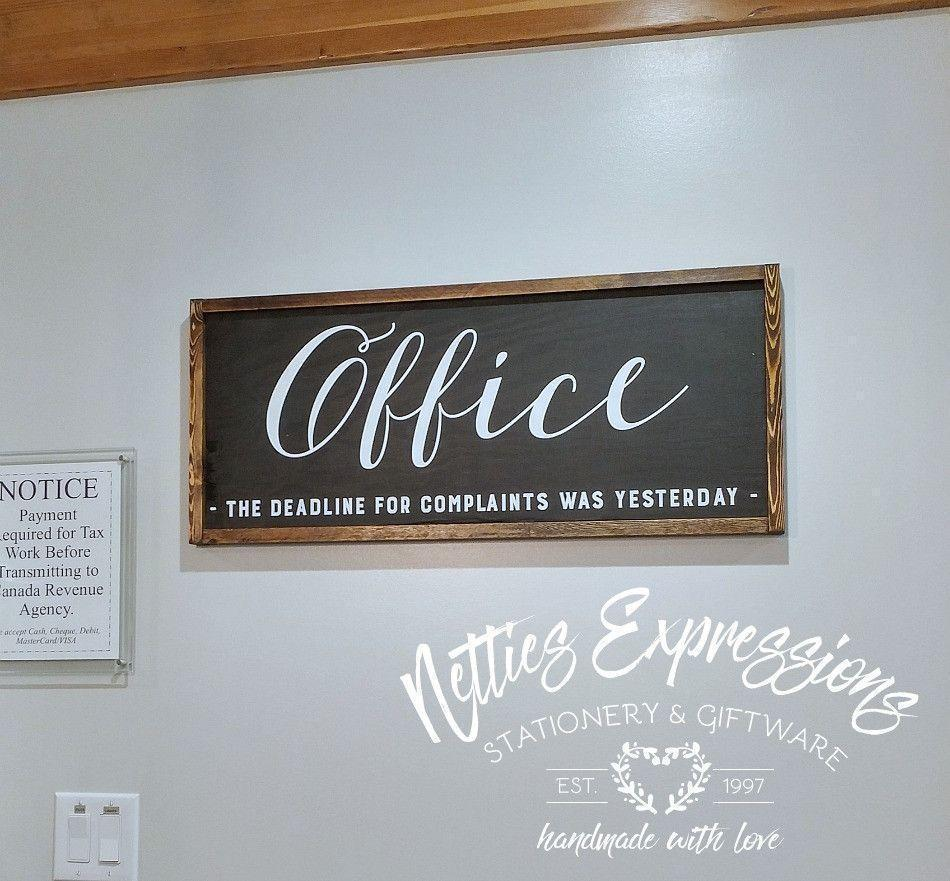Office Sign - Rustic Wood Sign - Netties Expressions