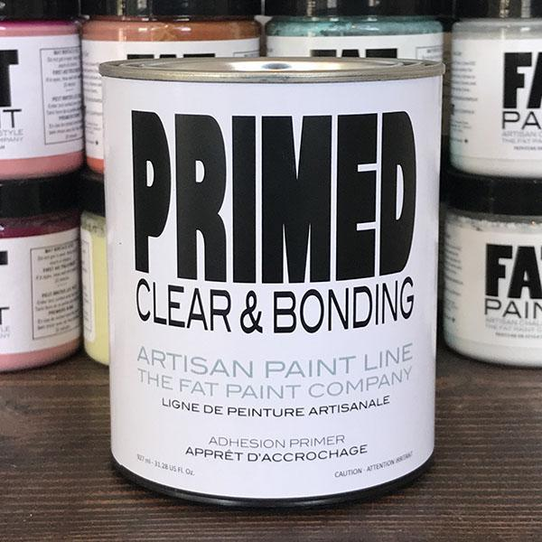 PRIMED – Clear & Bonding Primer (quart) - FAT Paint - Netties Expressions