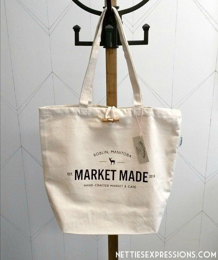 Custom Logo Design - Recycled Cotton Tote Bag - Netties Expressions