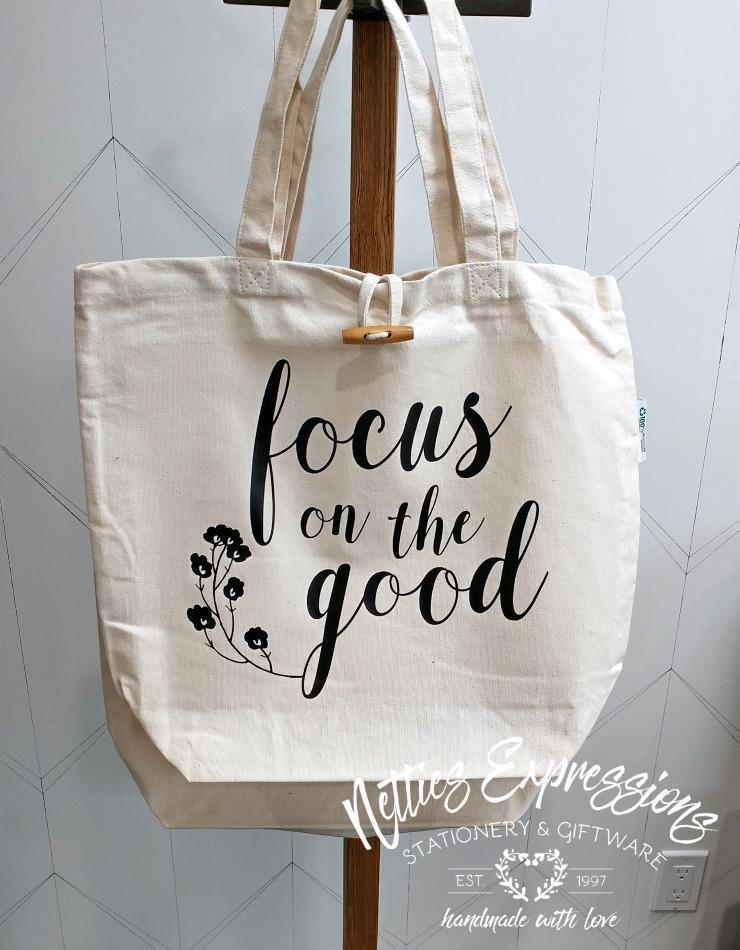 Focus on the good - Recycled Cotton Tote Bag - Netties Expressions