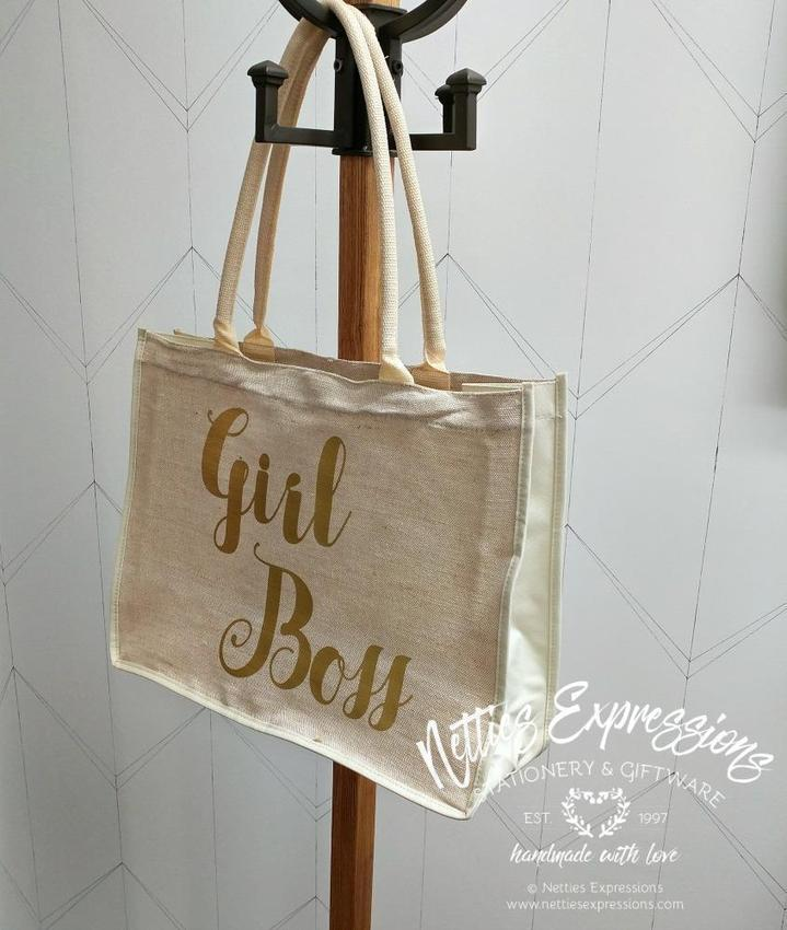 Girl Boss - Recycled Cotton Tote Bag - Netties Expressions