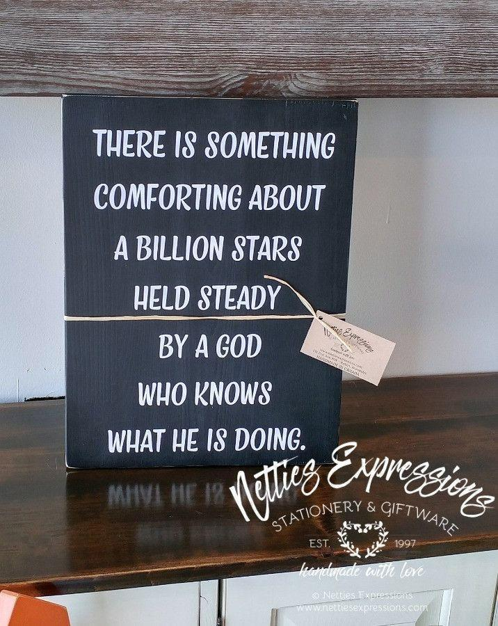 There is Something Comforting - Rustic Wood Sign - Netties Expressions