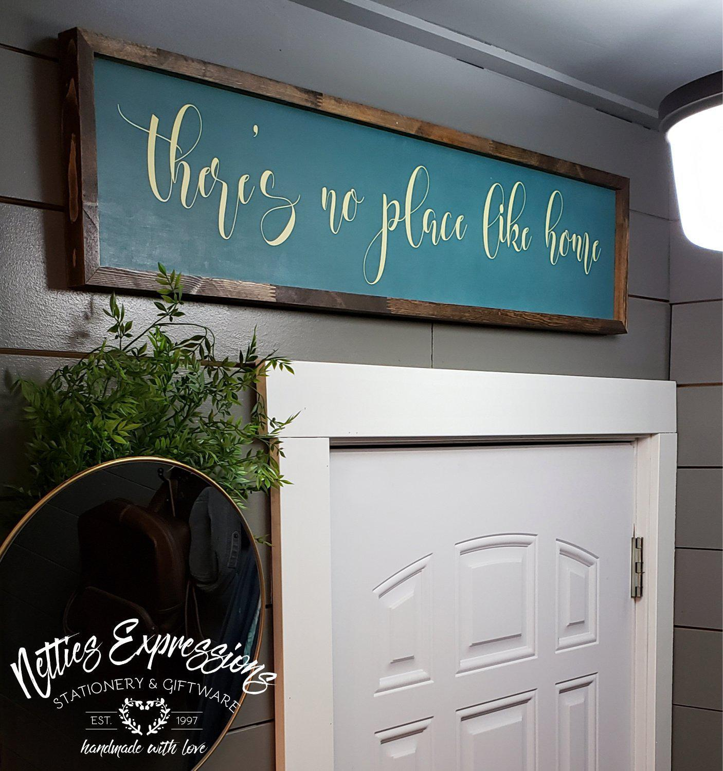 There's no place like home - Rustic Wood Sign - Netties Expressions
