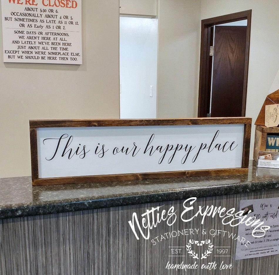This is our happy place - Rustic Wood Sign - Netties Expressions
